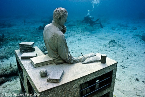 The Underwater Sculpture Park in Grenada, by artist Jason de Caires Taylor.