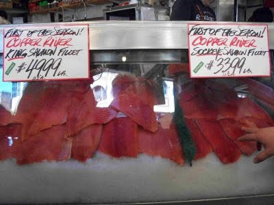 Copper River Salmon at Pike Place Market, Seattle