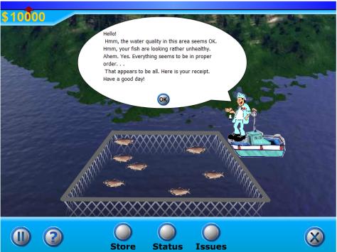 The salmon farm game